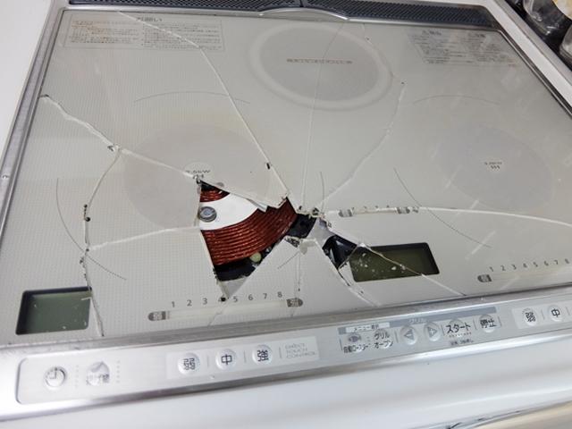 キッチンの破損